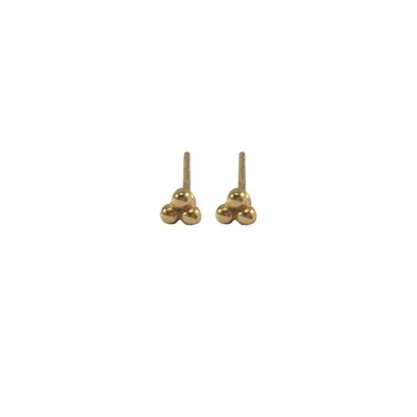 Gouden minimalistische oorknopjes