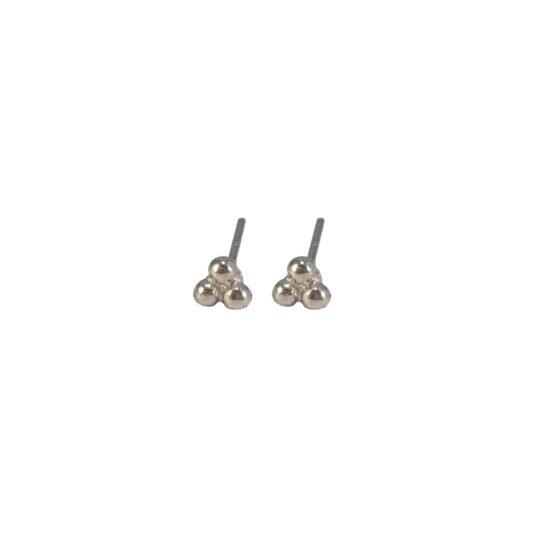 Zilveren minimalistische oorknopjes