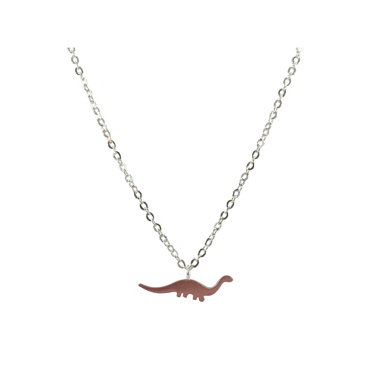 Dino ketting zilver