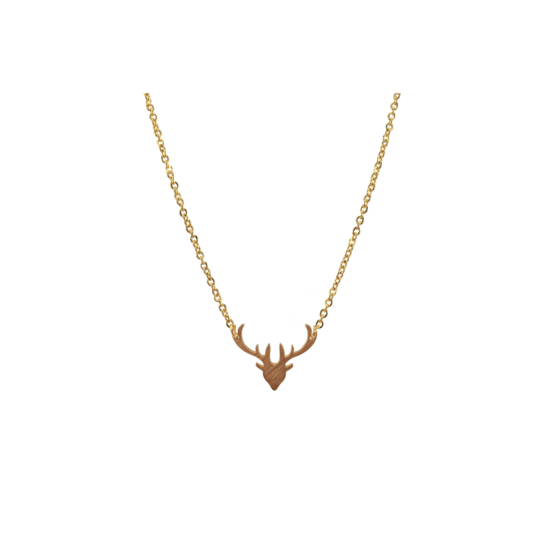 Rendier deer ketting goud