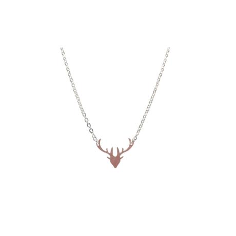 Rendier deer ketting zilver