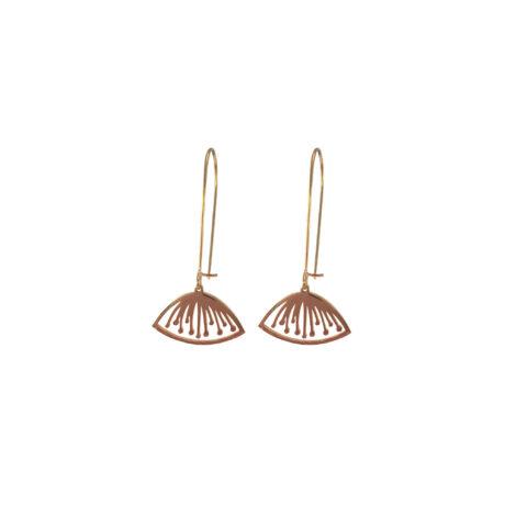 Gouden flower oorbellen
