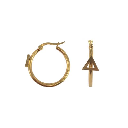 Gouden oorringen triangle