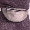 FANNY PACK SILVER GLITTER CLOSE