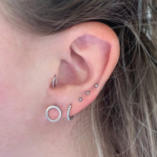 STUDS CIRCLE SILVER IN OOR