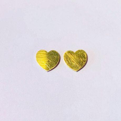 STUDS HEART GOLD