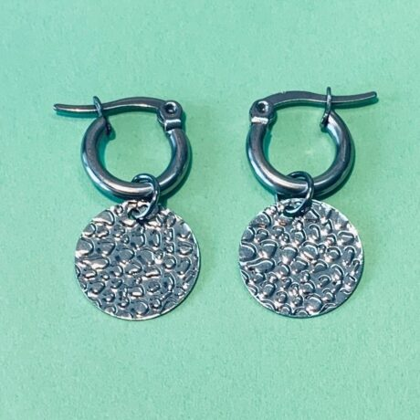 HOOPS LEOPARD COIN SILVER STAINLESS STEEL