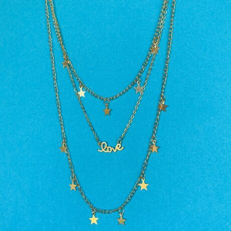 LAYERED LOVE STAR KETTING