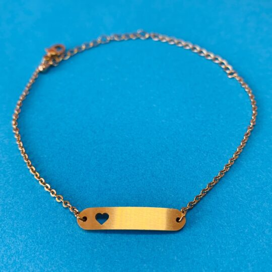 BAR HEART GOLD ARMBANDJE