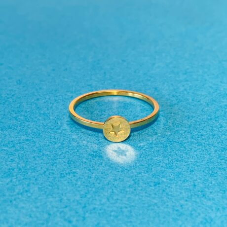 RING STAR GOLD STAINLESS STEEL