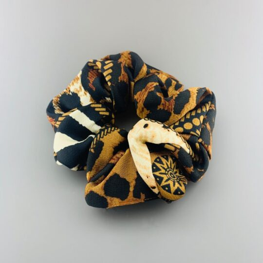 CHAIN LEOPARD SCRUNCHIE