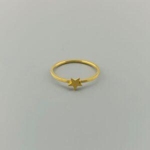 RING AUSGESCHNITTEN STAR GOLD