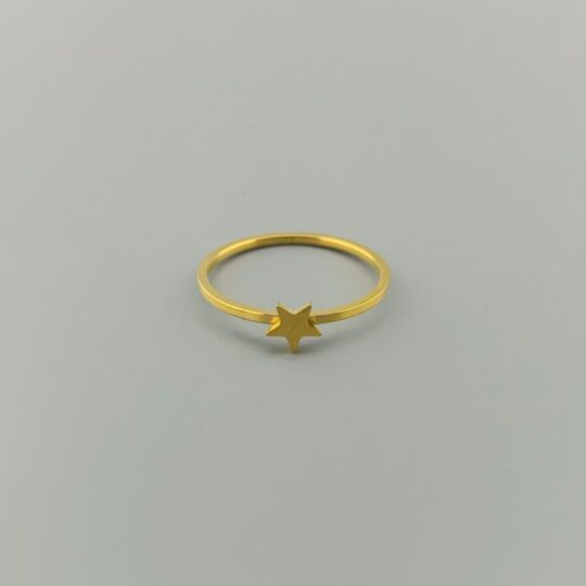 RING CUT OUT STAR GOLD