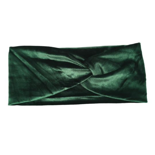 VELVET HAIRBAND GREEN
