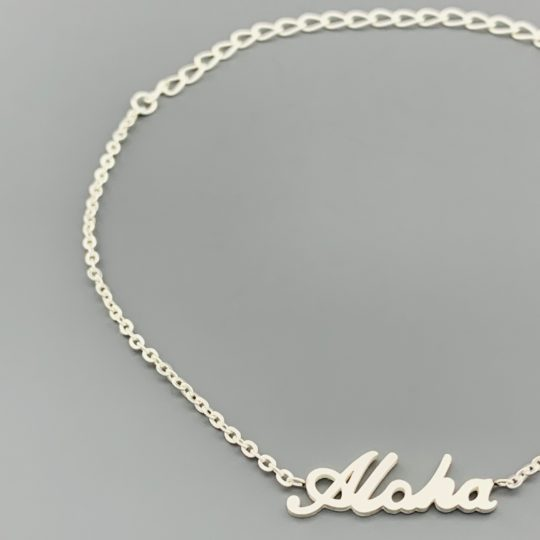ALOHA ARMBANDJE ZILVER CLOSE