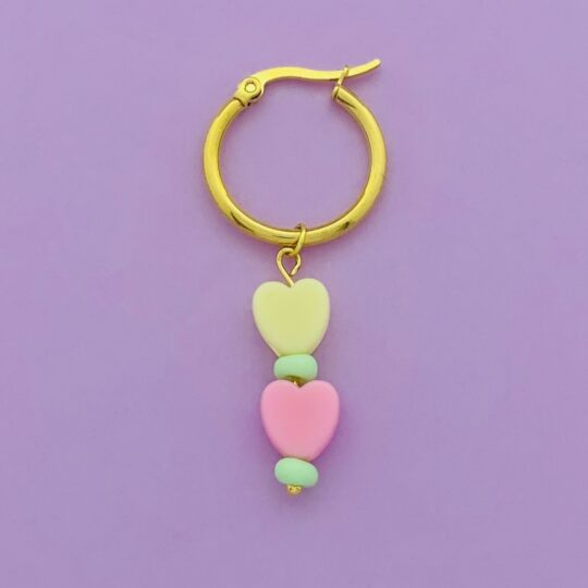 OORRING CANDY HEARTS GOUD