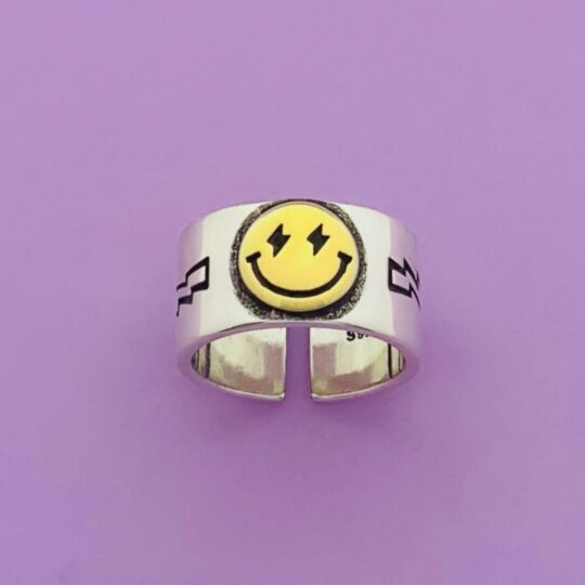 SMILEY THUNDER RING