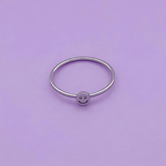 SMILEY RING SILVER