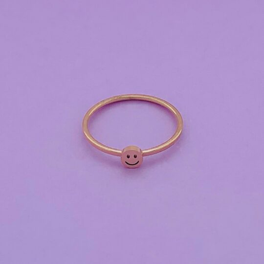 SMILEY RING ROSE GOUD