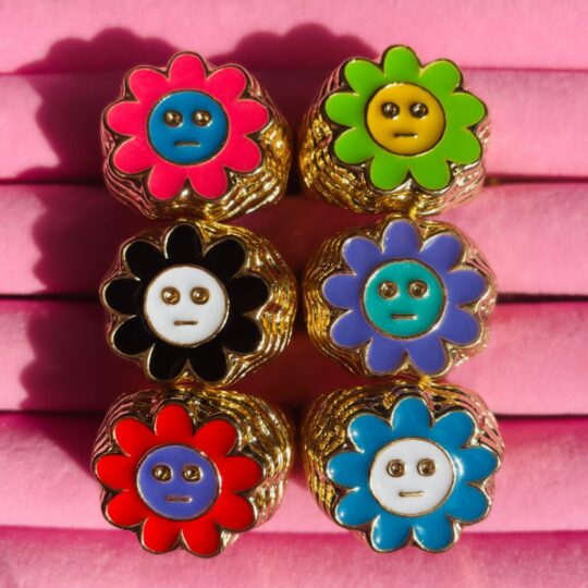 SMILEY BLOEM RINGEN