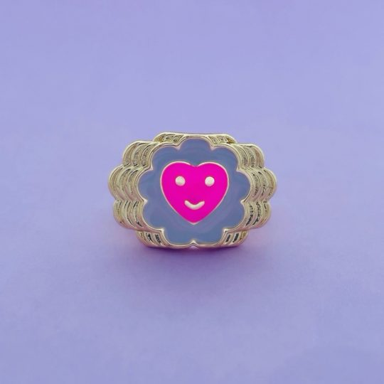 SMILEY RING FLOWER HART
