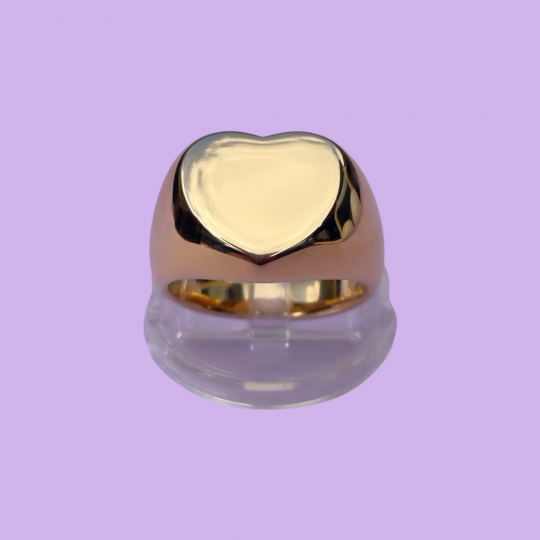 HEART SEAL RING GOLD