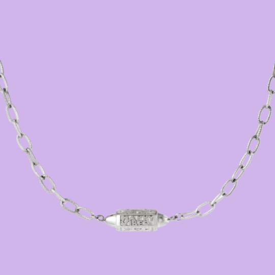 HAPPY VIBES KETTING ZILVER